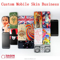 design mobile phone back cover with Daqin mobile phone sticker machines