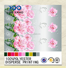 Flower Design 100% Polyester 3D Printed Fabric For Home Textile