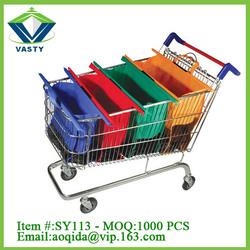 Hot Selling Supermarket Trolley Shopping Bag Reusable shopping Bag for promotional