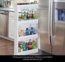 Space-Saving Plastic wheeled Slim Storage Shelf