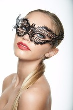 JSR-065 Yiwu Caddy Crown Design Ladies Mask Mardi Gras Party Black Color Crystal Mask Elegant