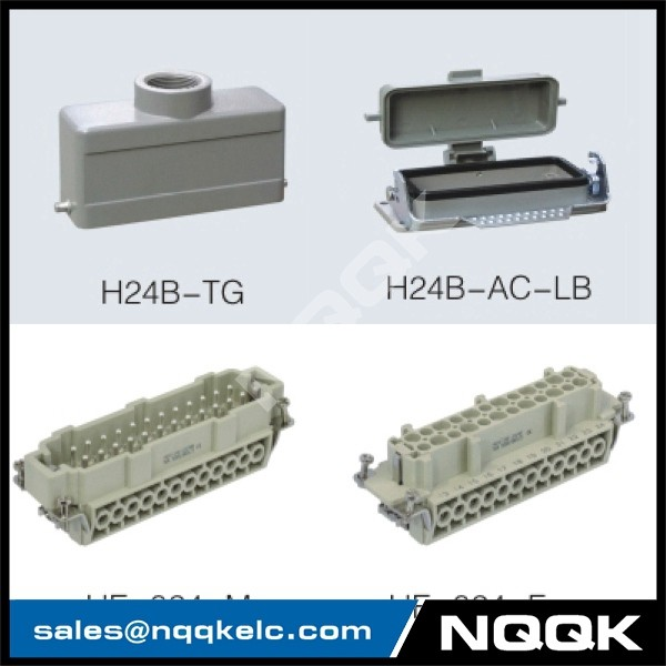 6 24 pin Screw spring crimp terminal Inserts surface mouned heavy duty sockets connector with 1 levers.jpg