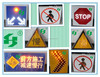Solar powered LED road Traffic Signal or road traffic signs Alibaba China factory