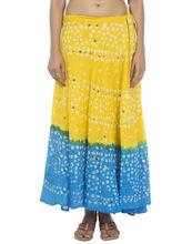 faldas largas tradicional de la india a largo bandhej faldas falda