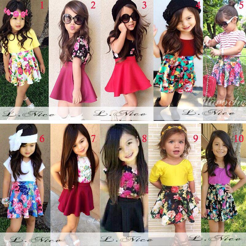 Ropa para niños fashion set short falda con camiseta conjunto adecuado para  2,8 años