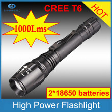 With CE, RoHS, China supplier 3-Modes 900Lumens Adjustable Focus rechargeable fast track flashlight