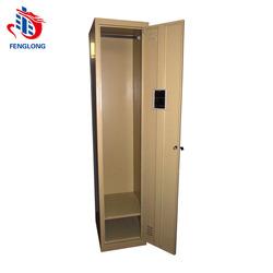 factory direct sale single door steel locker wth hanger and shelf