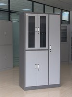 top sale high quality glass door steel filing cabinet with hanging rod