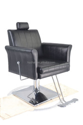 2015 Black Barber chairs with footrest;Hydraulic hairdressing chairs with reciline