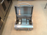 Outdoor gas bbq grill / Camping portable beach electric bbq spit with 2 burner/ stainless steel