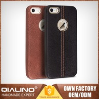 QIALINO Extra Slim High-Class Top Quality For Iphone 5 Back Case Genuine Leather