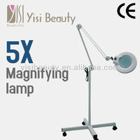 Portable facial steamer magnifying lamp 5x / magnifier lamp / table lamp magnifying glass beauty salon machine with CE