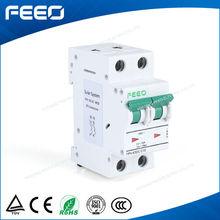 China hot IEC60898 Standard Solar energy dc mcb FPV-63 2 pole 550VDC 1A-63A electric dc mini circuit breaker