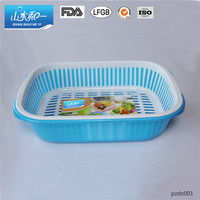 home storage green eco-friendly food vegetable plastic washing basket
