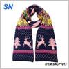 2014 Winter custom knitted christmas fleece scarf