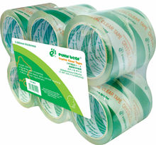 6 rolls/ shrink acrylic crystal clear bopp packing tape