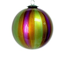 iredescent christmas glass ball