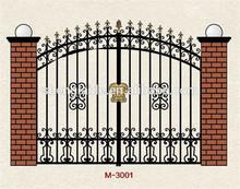 Decorativos de hierro forjado puerta del jardín diseños( fabricante)