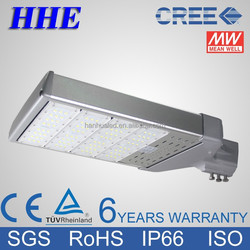 high power 200W led street light CREE leds Meanwell driver 6 years warranty