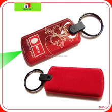OEM cheap full color print custom shape key chain with light bulbs