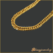 Hip hop bling jewelry classic 10mm gold filled Miami cuban link chain necklace new gold chain design for men