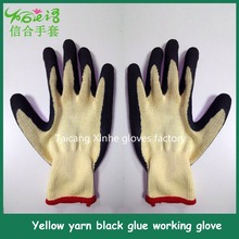 Palm coated back rubber anti-cut industry working glove