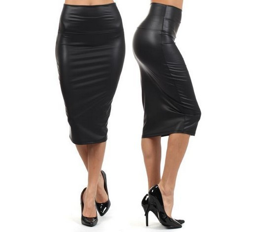 Black faux leather pencil skirt uk – Cool novelties of fashion ...