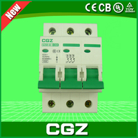 GZ47-100 series miniature circuit breaker(MCB) with 3 poles