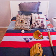 Navy style customized kids bedroom furniture, child wooden single bed