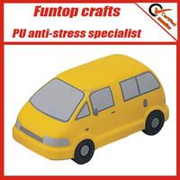 Soft pu foam custom mini bus pu stress toys