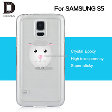 Invisible epoxy skin phone cover for Samsung S6