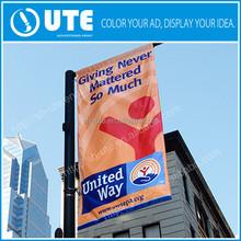 printed street Banner Outdoor Advertising avenue Pole Banner street flag