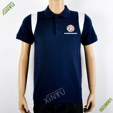Good quality royal blue polo shirt for association activity