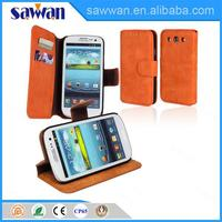 Factory supply brand name stand bumper phone case for Samsung galaxy S3 two mobile leather phone case