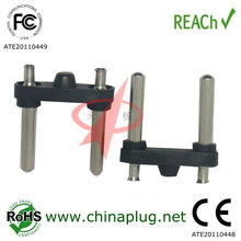 Ac plug insert 2 pin round pin european plug