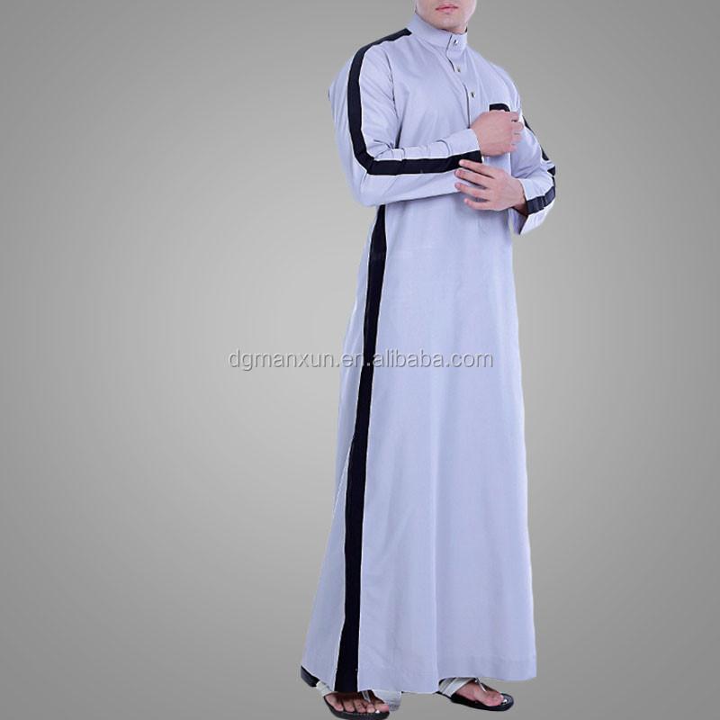 New design men islamic clothing full Length men jubah abaya