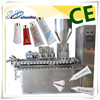 china suppliers 2 heads skin ointment plastic tube filling and sealing machine