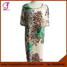 180300104 de la fábrica ventas al por mayor de la mujer del algodón Kaftan made in china
