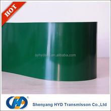 endless finger joint spliced green pvc Conveyor Belt