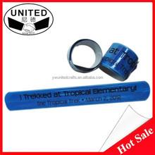 2015 Promotion items reflective promotional slap bracelet