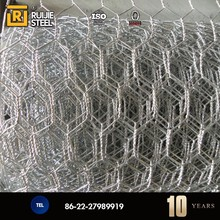 China metal hot dipped electro galvanized double twisted animal cage fence hexagonal wire mesh exporter factory price