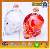 Special design hot sale good quality skull glass bottle