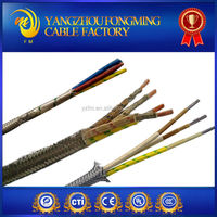 high temperature 3 core braided steel shield wire cable