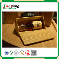 cheap wooden wine box, unfinished wine case gift box for wine