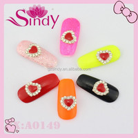 Wholesale Best Products Nail Fashion Heart Nail Design Accessories