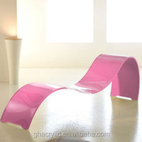 Fashion pink acrylic chair,customized high quality acrylic desk chair
