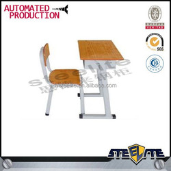 cartoon school desk and chair / school furniture desk and chair / combo school desk and chair