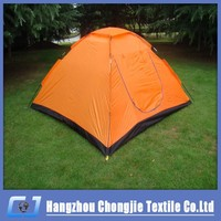 Promotion Orange easy up Single Layer Orange One door Outdoor Camping tent for 3-4 person