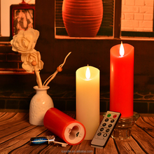 LED candle with moving wick for home and wedding decoration