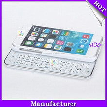 Ultra-thin Wireless Slide-out Mini Bluetooth Keyboard for iPhone 6, Detachable/Removeable Bluetooth Keyboard Case